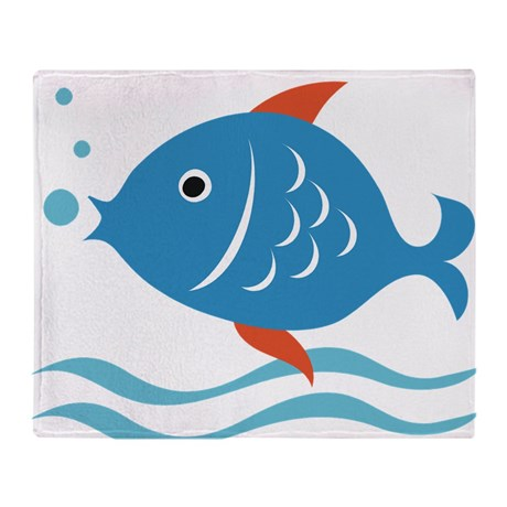 fishy_1_throw_blanket